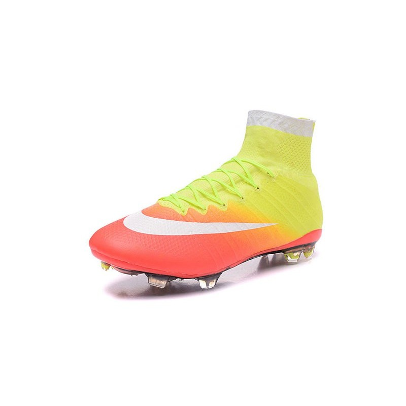 Nike 2016 Mercurial Superfly FG Cristiano Ronaldo Soccer Boot Yellow White Orange