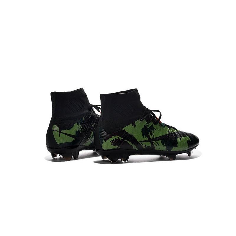 Nike 2016 Mercurial Superfly FG Cristiano Ronaldo Soccer Boot Camo Green Black