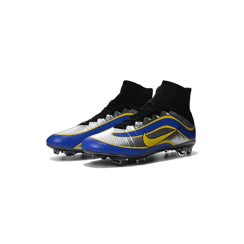 sports shoes 7dc46 9267c ... greece newest nike nike mercurial superfly heritage football cleats  silver blue yellow 371f2 b6c10