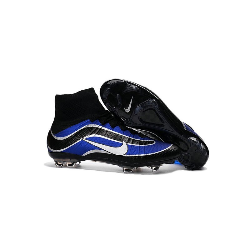 Newest Nike Nike Mercurial Superfly Heritage Football Cleats Blue Black White
