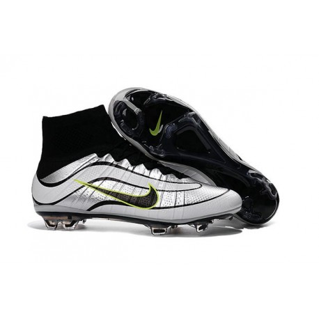 Newest Nike Nike Mercurial Superfly Heritage Football Cleats White Black Green