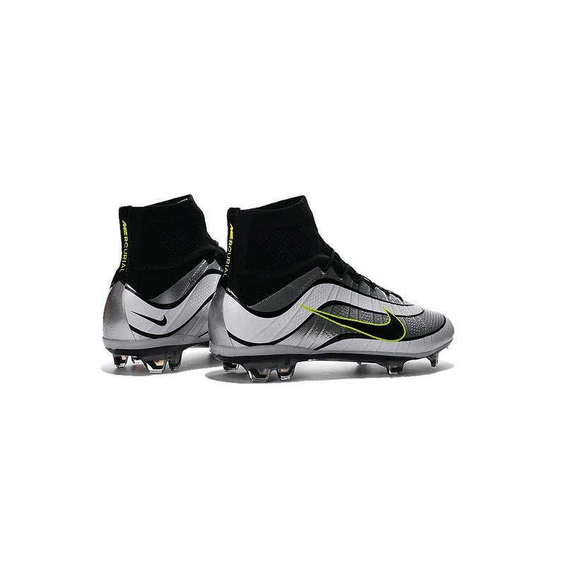 Newest Nike Nike Mercurial Superfly Heritage Football Cleats White Black Green