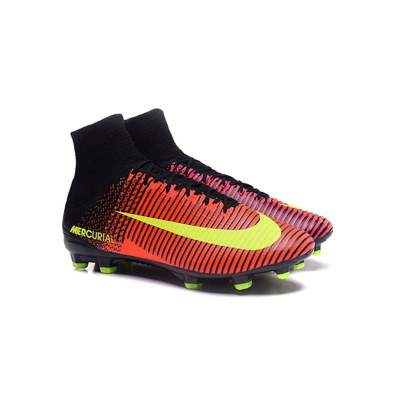 Cristiano Ronaldo Nike Mercurial Superfly V FG Football Cleats Crimson Volt Pink