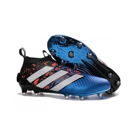 Mens Top adidas Ace16+ Purecontrol FG Soccer Cleat Pairs Pack Bleu White