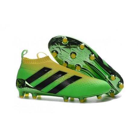ff25695de Mens Top adidas Ace16+ Purecontrol FG Soccer Cleat Brazil Green Black