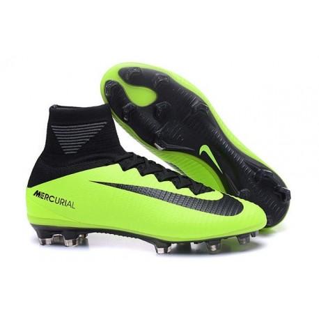 new product dcf27 13a40 Cristiano Ronaldo Nike Mercurial Superfly V FG Football Cleats Green Black