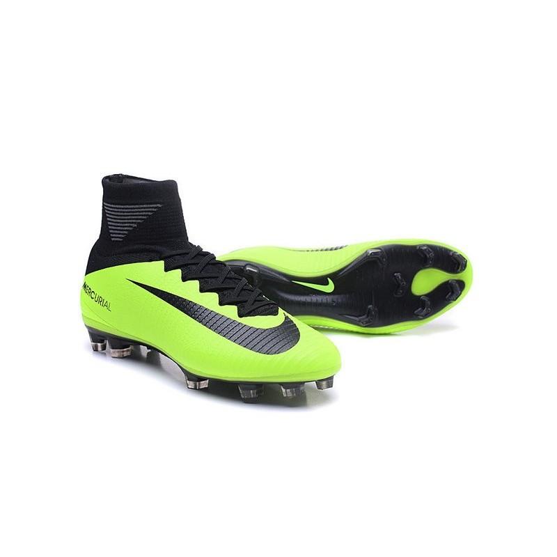 Cristiano Ronaldo Nike Mercurial Superfly V FG Football Cleats Green Black