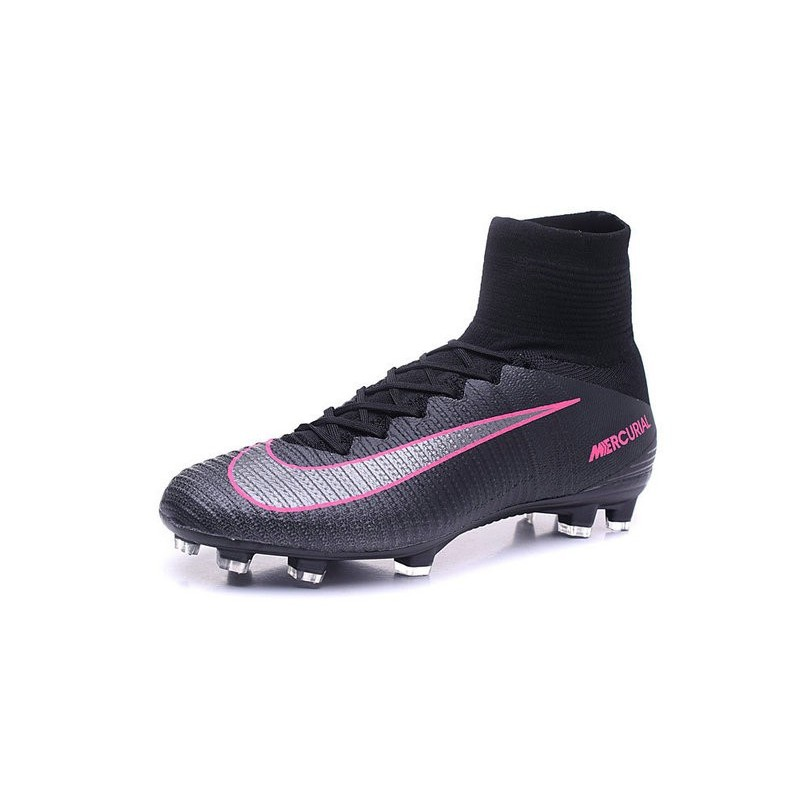 Cristiano Ronaldo Nike Mercurial Superfly V FG Football Cleats Black Pink