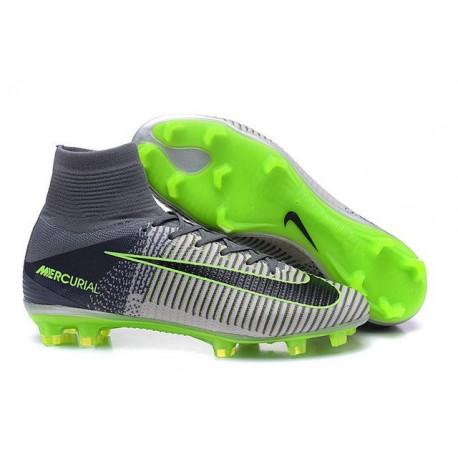 Cristiano Ronaldo Nike Mercurial Superfly V FG Football Cleats Grey Black