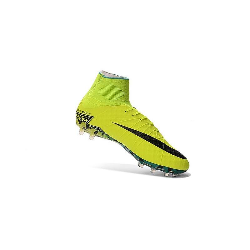 Nike Hypervenom Phantom 2 FG ACC 2016 Soccer Shoes Yellow Black