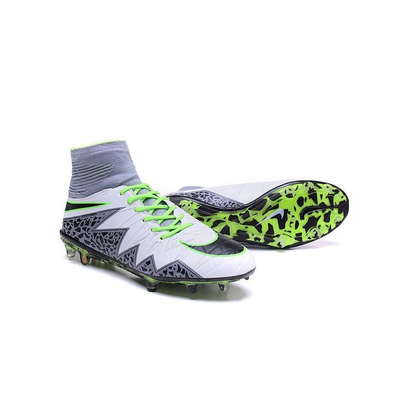 Nike Hypervenom Phantom 2 FG ACC 2016 Soccer Shoes White Green Black