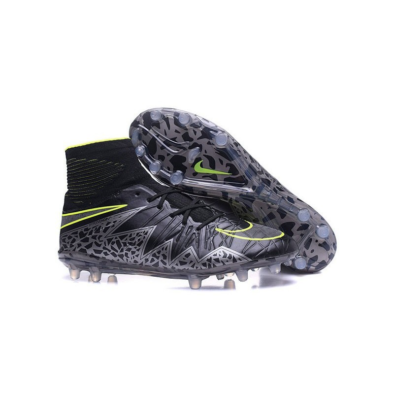 Neymar Football Cleats Nike Hypervenom Phantom II FG Black Silver Green