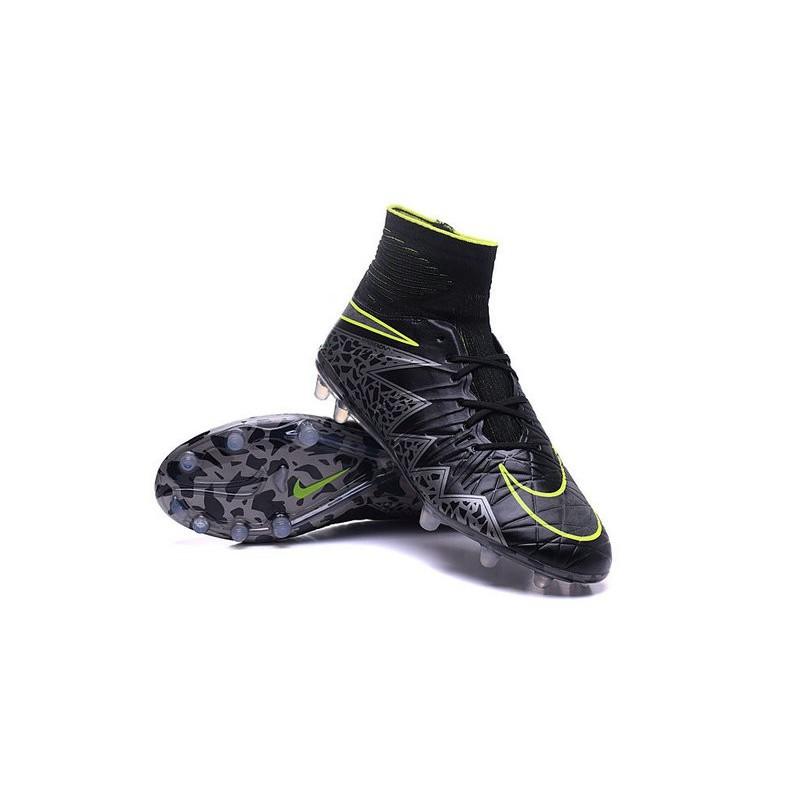Neymar Football Cleats Nike Hypervenom Phantom II FG Black Silver Green