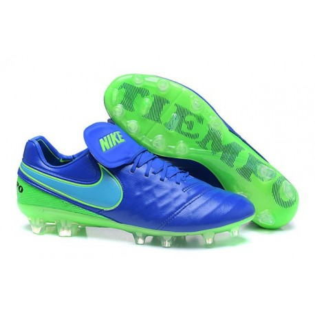 new arrival 9d4c2 29a05 Nike Tiempo Legend VI FG ACC K-Leather Football Cleat Blue Green