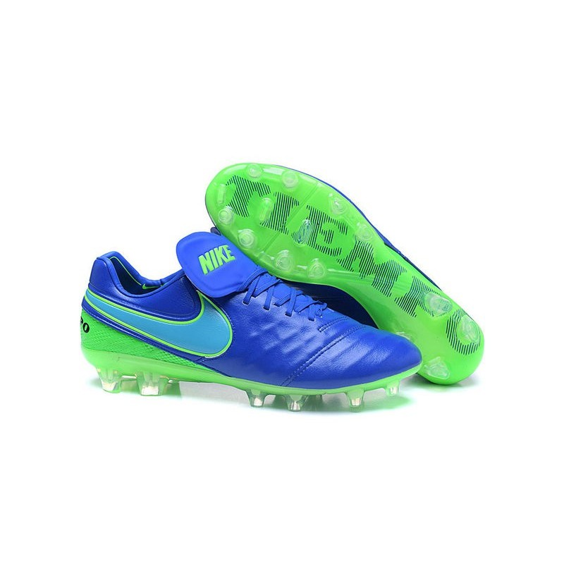 Nike Tiempo Legend VI FG ACC K-Leather Football Cleat Blue Green