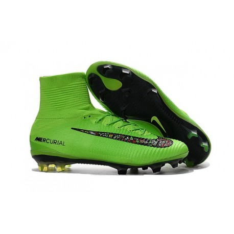 5985038b1 New Nike 2016 Mercurial Superfly 5 FG ACC Boots Green Black