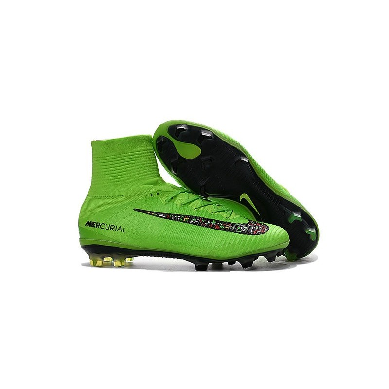 New Nike 2016 Mercurial Superfly 5 FG ACC Boots Green Black