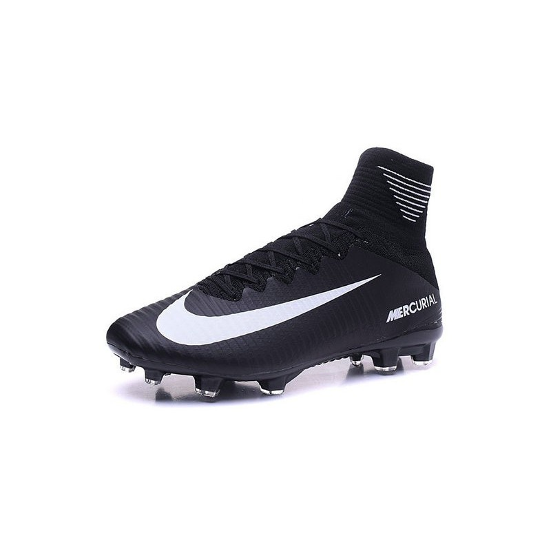 New Nike 2016 Mercurial Superfly 5 FG ACC Boots Black White