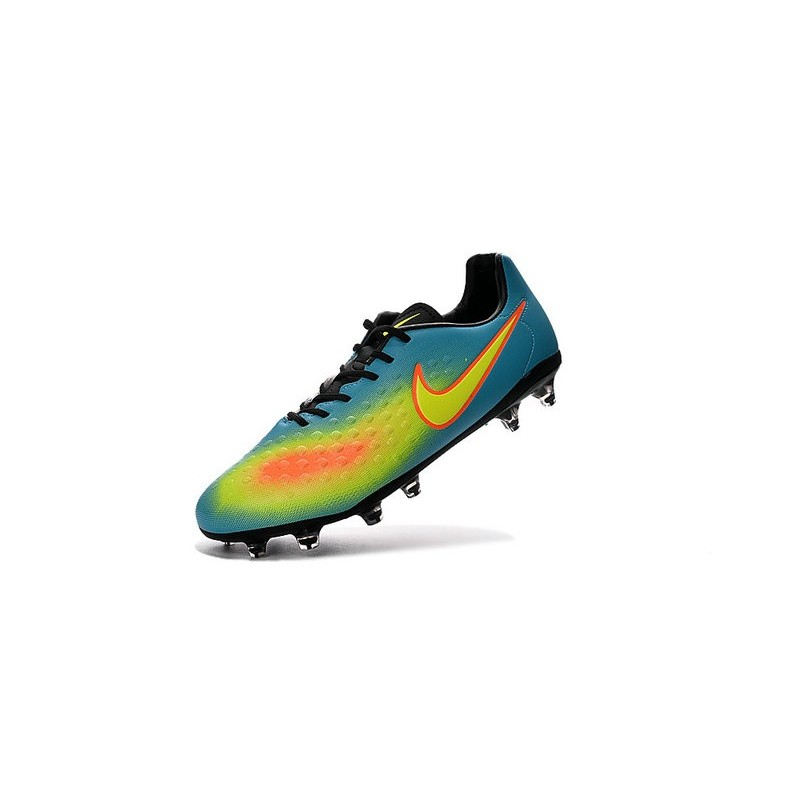 Nike 2016 Magista Opus II FG ACC Football Boots Blue Yellow Orange