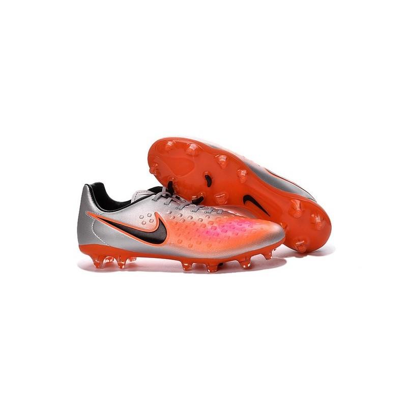 Nike 2016 Magista Opus II FG ACC Football Boots Silver Orange Black