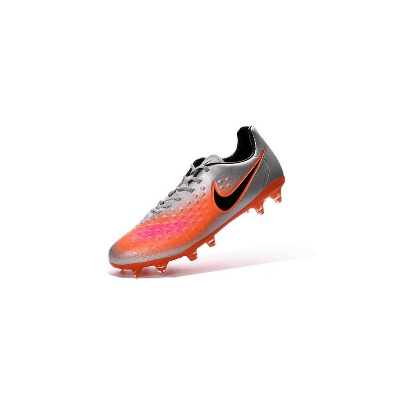 Nike 2016 Magista Opus II FG ACC Football Boots Silver Orange Black