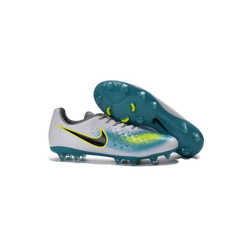 Nike 2016 Magista Opus II FG ACC Football Boots White Blue Black