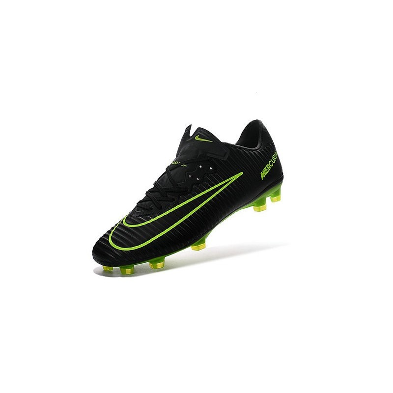 Nike Mercurial Vapor 11 FG ACC Mens Football Shoes Black Green