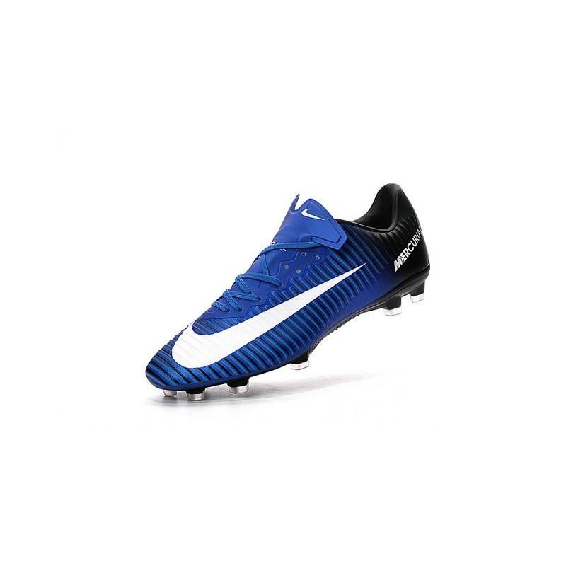 Nike Mercurial Vapor 11 FG ACC Mens Football Shoes Blue White Black