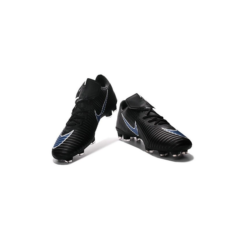 Nike Mercurial Vapor XI FG Firm Ground Soccer Shoes Black Blue