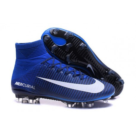 New Nike 2016 Mercurial Superfly 5 FG ACC Boots Blue White