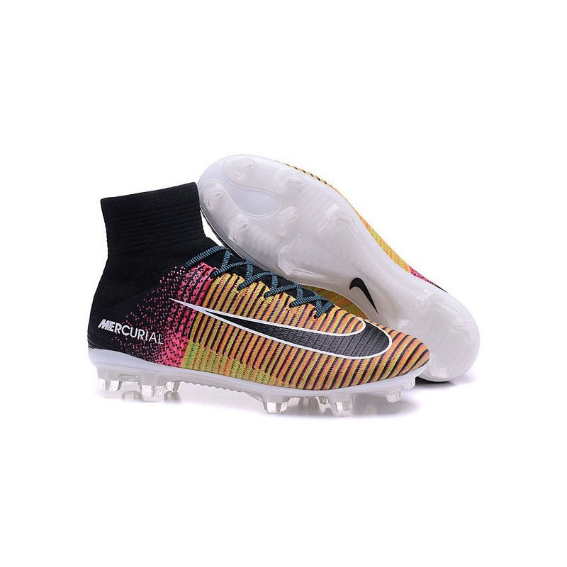 New Nike 2016 Mercurial Superfly 5 FG ACC Boots Yellow Black Pink