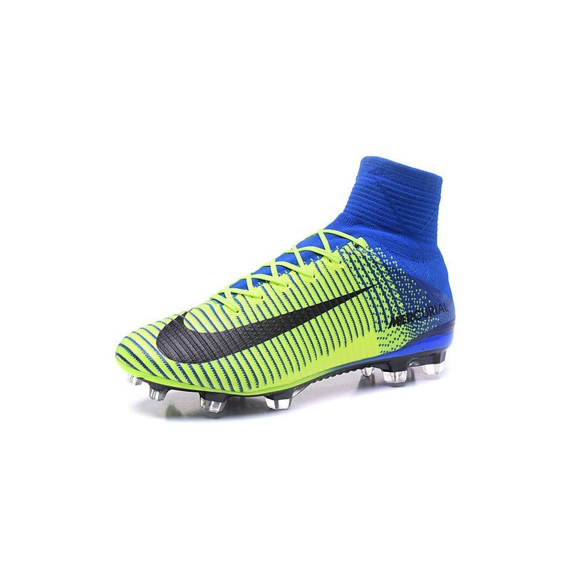 New Nike 2016 Mercurial Superfly 5 FG ACC Boots Green Blue Black