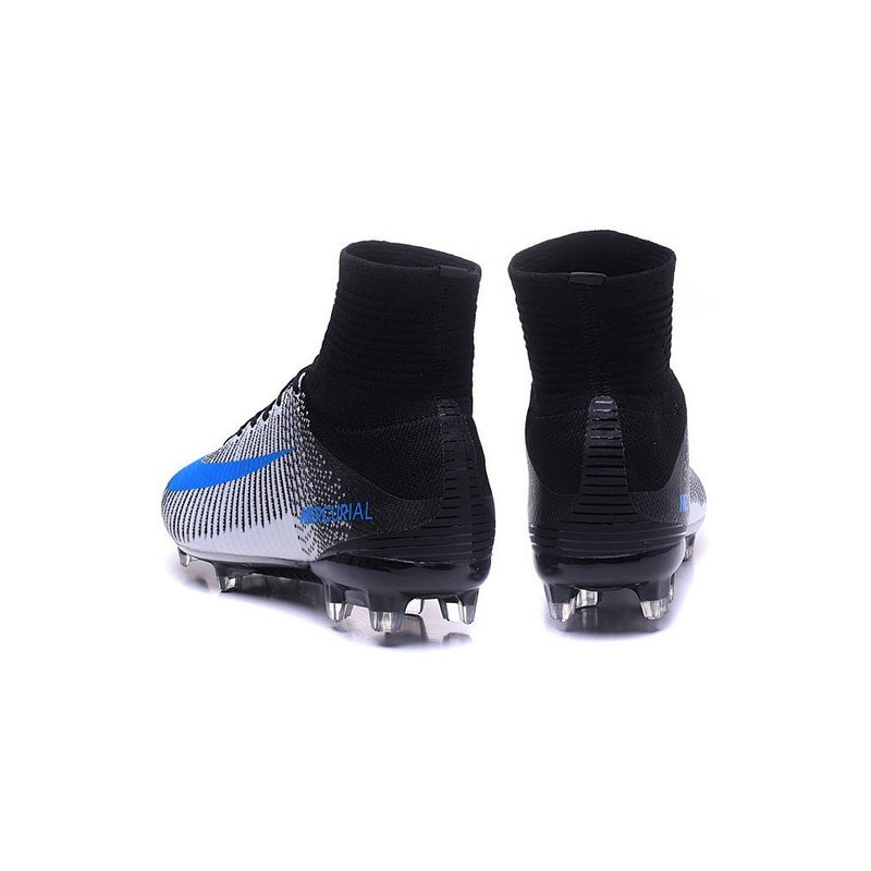 New Nike 2016 Mercurial Superfly 5 FG ACC Boots White Blue Black
