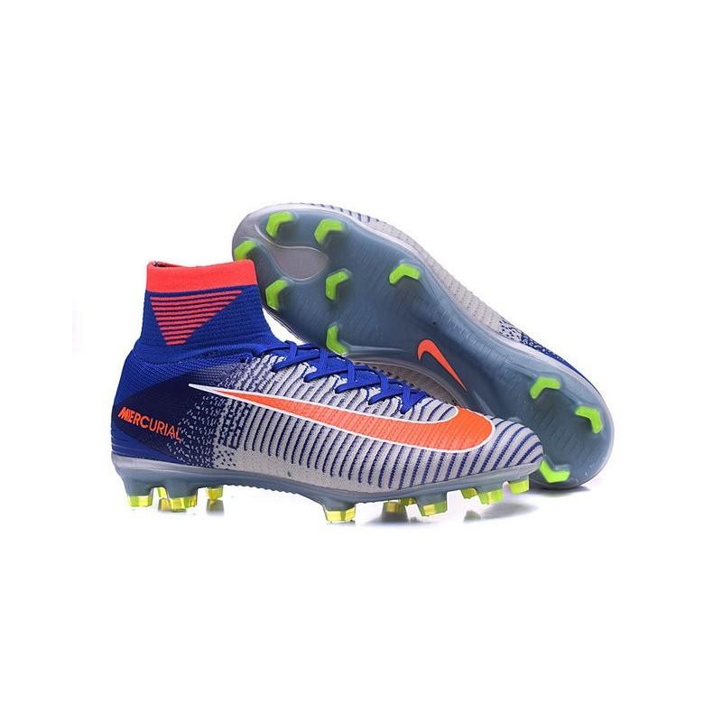 New Spark Brilliance Nike Olympics 2016 Mercurial Superfly 5 FG White Blue Orange