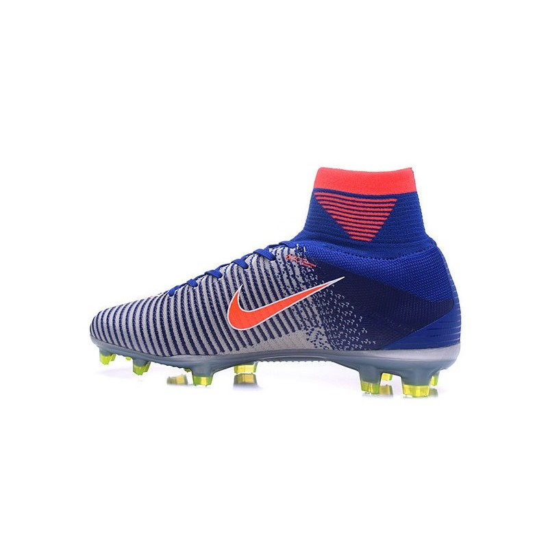 New Spark Brilliance Nike Olympics 2016 Mercurial Superfly 5 FG White Blue Orange
