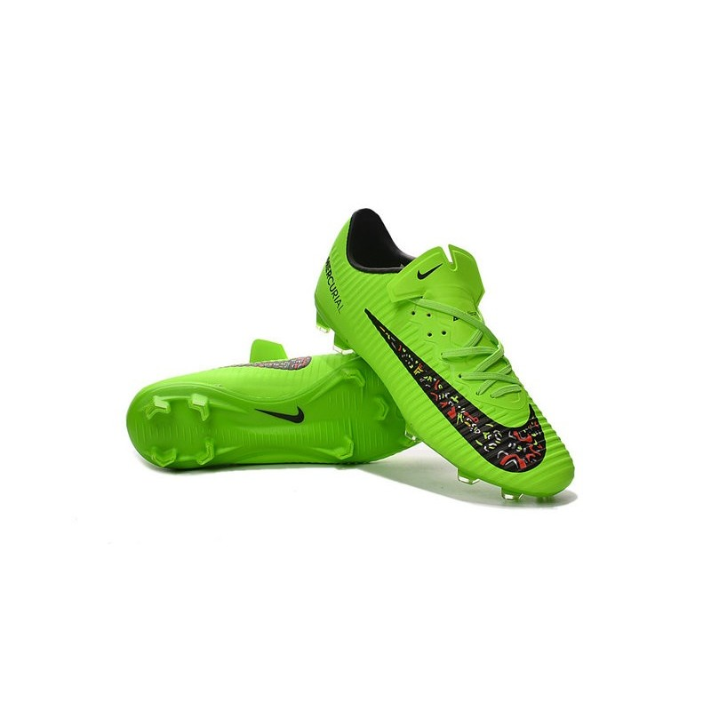 Nike Mercurial Vapor XI FG Firm Ground Soccer Shoes Green Black