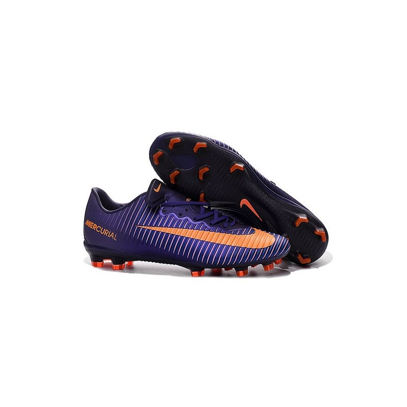 Nike Mercurial Vapor XI FG Firm Ground Soccer Shoes Purple Orange