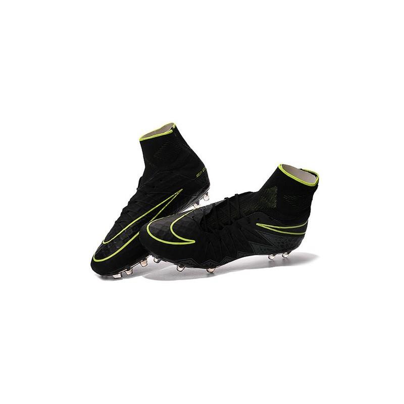 Neymar Football Cleats Nike Hypervenom Phantom II FG Black Volt