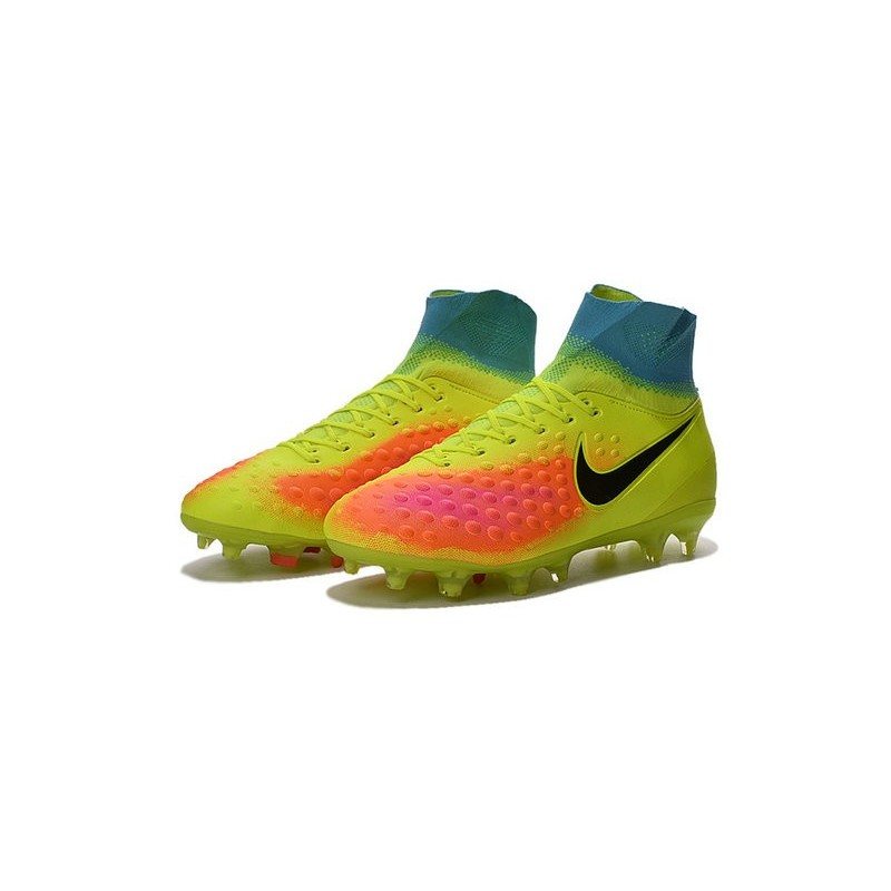 New 2016 Nike Magista Obra II FG ACC Soccer Cleats Volt Black Orange