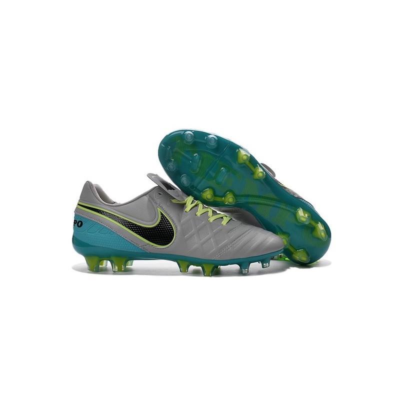 Nike Tiempo Legend VI FG ACC K-Leather Football Cleat White Blue Black