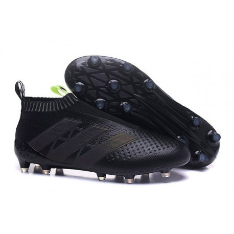 Mens Top adidas Ace16+ Purecontrol FG Soccer Cleat Core Black Solar Yellow 63f522f2034e