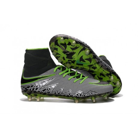 info for 63808 4815e Neymar Football Cleats Nike Hypervenom Phantom II FG Pure Platinum Black  Green
