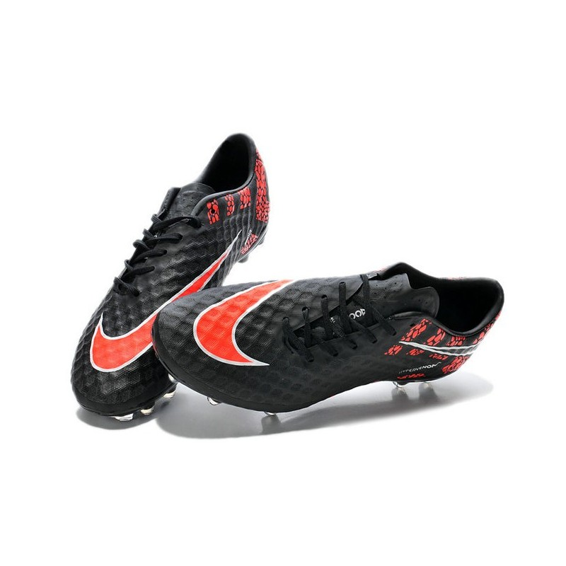 Neymar's Nike HyperVenom Phantom FG ACC Cleats Reflective Black Red
