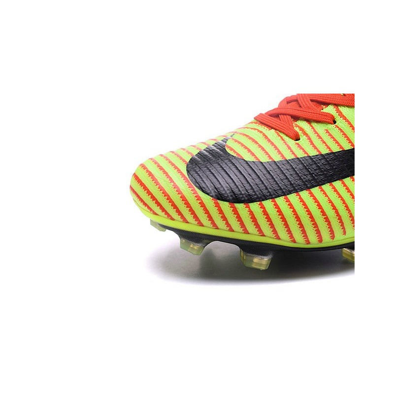 Nike Mercurial Superfly V FG High Top Firm Ground Shoes Red Green Black