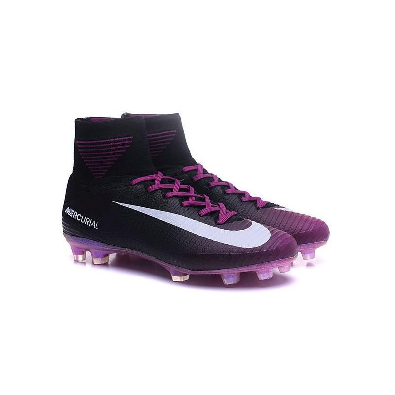Nike Mercurial Superfly V FG Men Soccer Boots Black Purple White Maximize.  Previous. Next 3c5de332dda5
