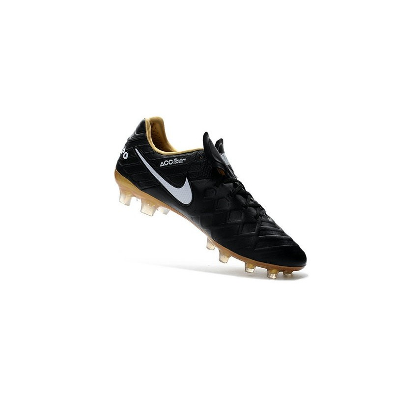 Nike Tiempo Legend VI FG ACC K-Leather Football Cleat Black Gold White