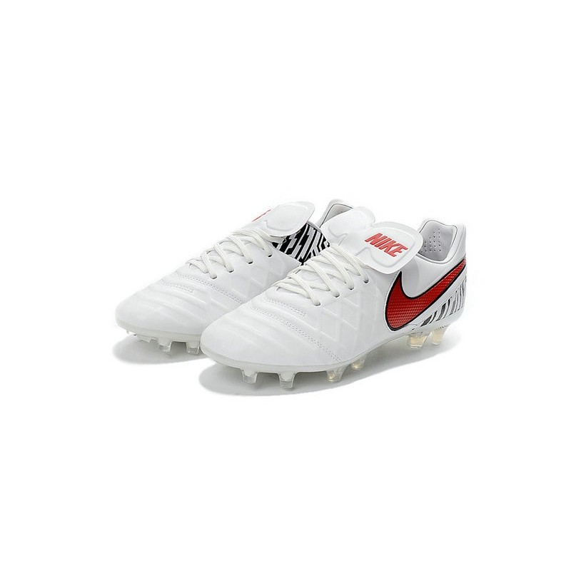 Nike Tiempo Legend VI FG ACC K-Leather Football Cleat White Red