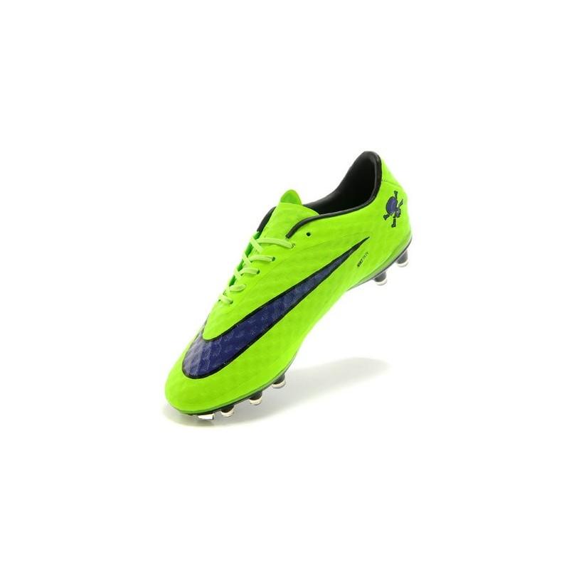 Neymar's Nike HyperVenom Phantom FG ACC Cleats Fluo Green Purple