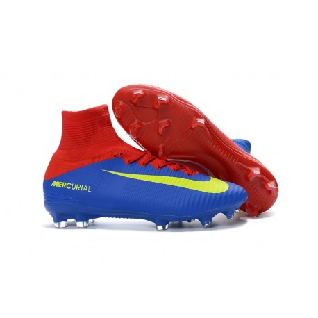 best loved 1226f 90a64 Nike Mercurial Superfly V FG Men Soccer Boots Red Blue Yellow