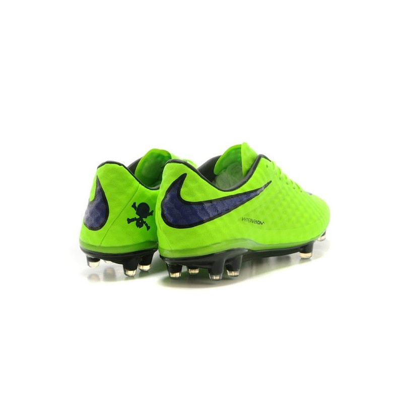 Neymar's Nike HyperVenom Phantom FG ACC Cleats Fluo Green Purple
